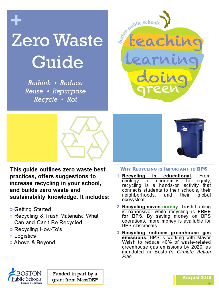 2018-2019 BPS Zero Waste Guide