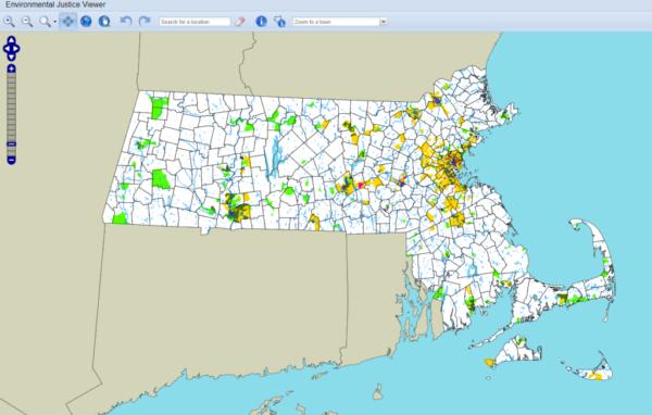 Mass Environmental Justice Map