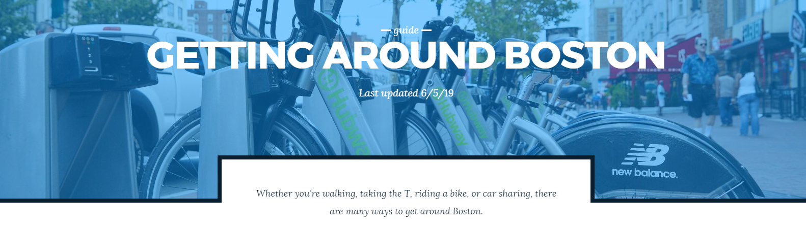 Getting Around Boston Guide