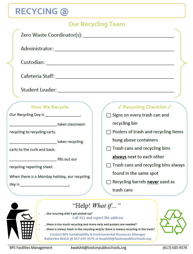 Your School Zero Waste Profile